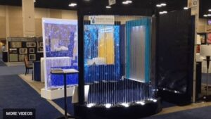 Amazing Rain Curtain and Bubble Wall Display