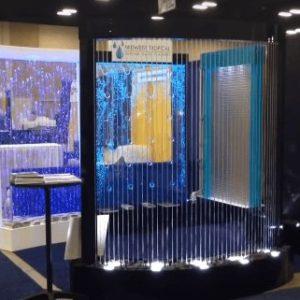Amazing Rain Curtain and Bubble Wall Display