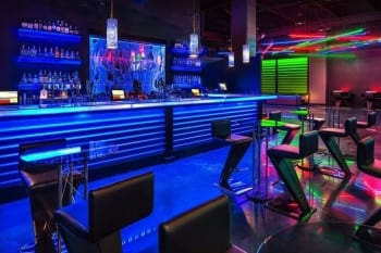 Bubble Wall Swirley Rod Style at Shadeh Nightclub in Buffalo Thunder Casino in New Mexico