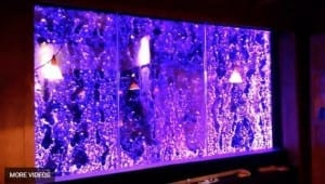 Custom Bubble Wall Dancing Bubble Wall Indoor Water Wall Feature