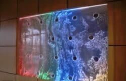 Custom Bubble Wall Panel Mounted into Window