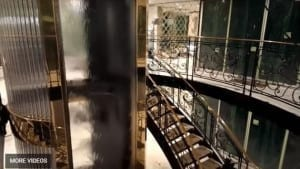 Custom Lobby Water Wall Waterfall on Elevator of S.S. Catherine River Cuise Ship