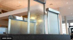 Custom Water Wall Feature Indoor Glass Water Walls