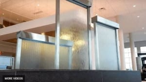 Custom Water Wall Feature Indoor Glass Water Walls