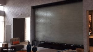 Custom Water Wall Indoor Glass Lobby Waterfall Holiday Inn Houston Texas