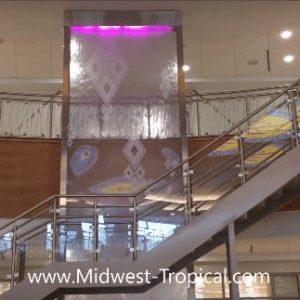 Custom Water Wall Sealed Enclosed Glass Waterfall