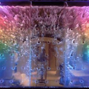 How to Light Custom Bubble Wall Water Walls with LED Lighting Effects You Have to See This Amazing
