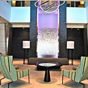 Mesh Water Wall Waterfall at Four Points by Sheraton at Miami International Airport