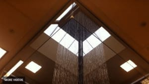 Rain Curtain Waterfall in Square Shape
