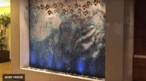 Tile Mosaic Water Wall Waterfall at Hyatt Place Waikiki Honolulu Hawaii Amazing Beautiful
