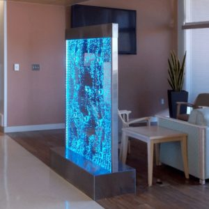 bubble panel VA Hospital Las Vegas Nevada bubble wall with stainless frame