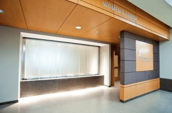 water wall frosted glass waterfall little company of mary evergreen park illinios