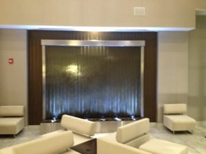 3 Piece Glass and Stainless Water Wall Holiday Inn Austin Airport 2