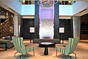 Stainless Steel Mesh Water Wall at Four Points by Sheraton at Miami Airport