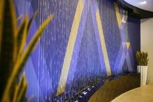 Rain Curtain at Holiday Inn Express Louisville Kentucky