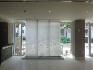 Stainless Mesh Water Wall at Residence Inn by Marriott in Surfside Miami Beach Florida
