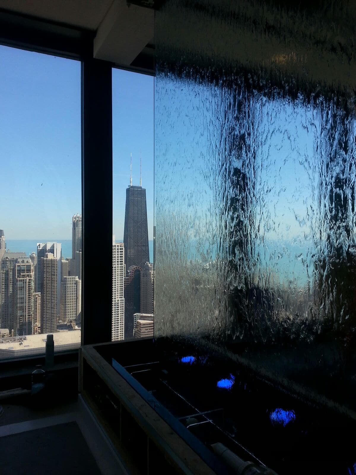 Water Wall Frameless Chicago Downton at American Medical Association Headquerters